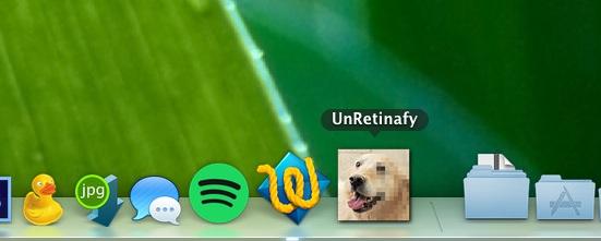 UnRetinafy – App to create non-retina versions of images.